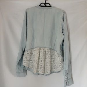 Maurices Tops - Maurices chambray and lace shirt